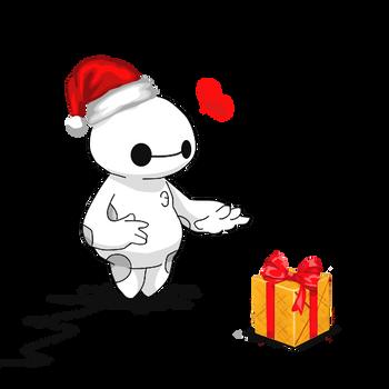 Merry Christmas Baymax! by Pradyrk