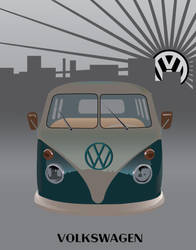 vw bus by TheVampireAdrik