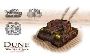 Harkonnen Aggressor Tank by gntlemanartist
