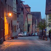 Morning in Rothenburg ob der Tauber IV by mannromann