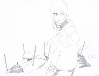 Naruto and Hinata by DracoLumina