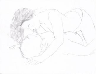 the kiss by DracoLumina