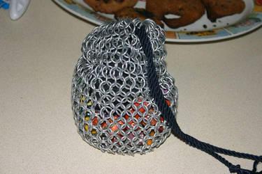 Chainmail dice bag by DracoLumina