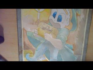 Water coloring of a treasure trap by ThePhantomComics