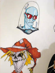 Mr. Freeze and The Scarecrow by lelandp13