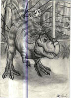 Young T-rex of Jurassic Park by SpinoJP