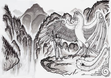 Arasil and the Simurgh by SpinoJP