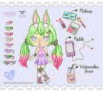 Adopt n2 Watermelon Rabbit (OPEN) by Carolayco-Adopts