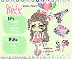 Chibi MALA (OC) by Carolayco-Adopts