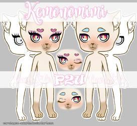 P2U Base Kemonomimi by Carolayco-Adopts