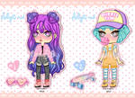 Pretty Girls ADOPTABLES OPEN (2/2) by Carolayco-Adopts