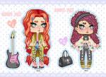 Rocker Girls ADOPTABLES OPEN (2/2) by Carolayco-Adopts