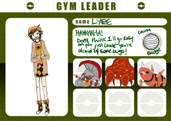 Pokemon Rainbow: Gym Leader Lyre by Lydasquid