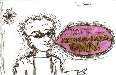 Mitochondrial DNA sketch by NorskBarn