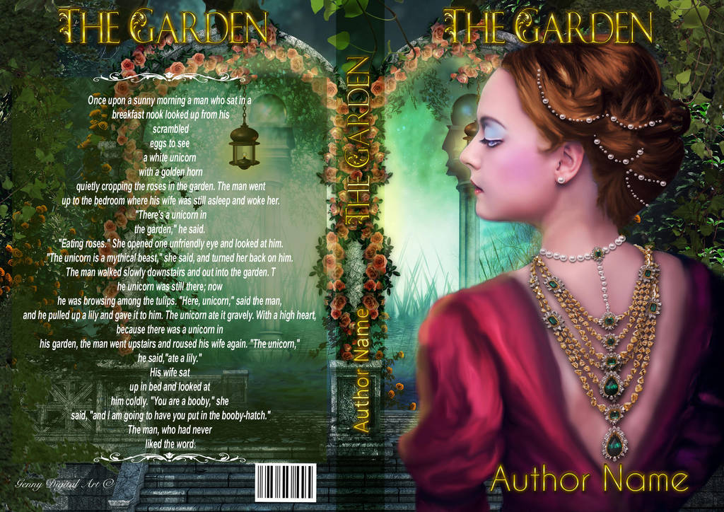 Premade Book Cover The Garden by Sinphie