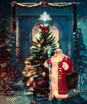 Santa Claus and Tree by Sinphie