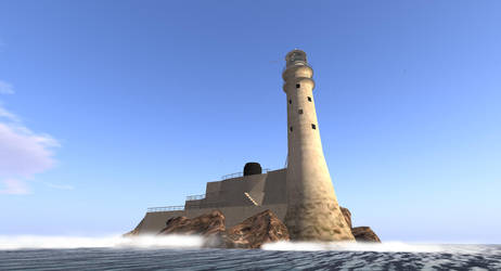 2nd life Sailing around a lighthouse by OldDuane