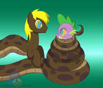 Coils for a Dragon by LunaHazACookie