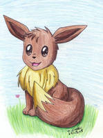 --Pokemon-- Happy Eevee by pdutogepi