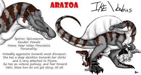 Arazoa Character Sheet - Ike by Stegodire