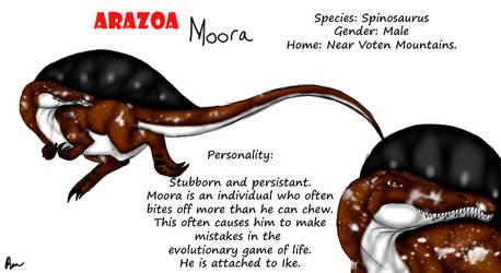 Arazoa Character Sheet - Moora by Stegodire