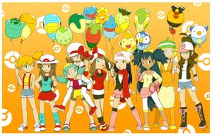 1M hits Pokemon girls by Hapuriainen