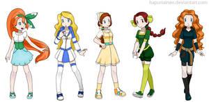 Pokemon Princesses 3 by Hapuriainen