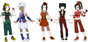 Pokemon Avatar girls by Hapuriainen