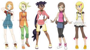 Pokegirls alt outfits 2 by Hapuriainen