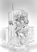 Konata outgrows an office by AlloyRabbit