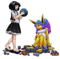Rem visits Erika by AlloyRabbit