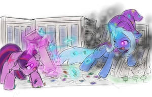 Twilight vs Trixie by AlloyRabbit