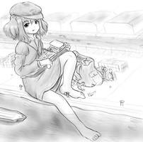Nitori at the docks by AlloyRabbit