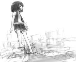 Rem city doodle by AlloyRabbit