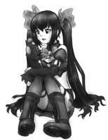 Noire sit by AlloyRabbit