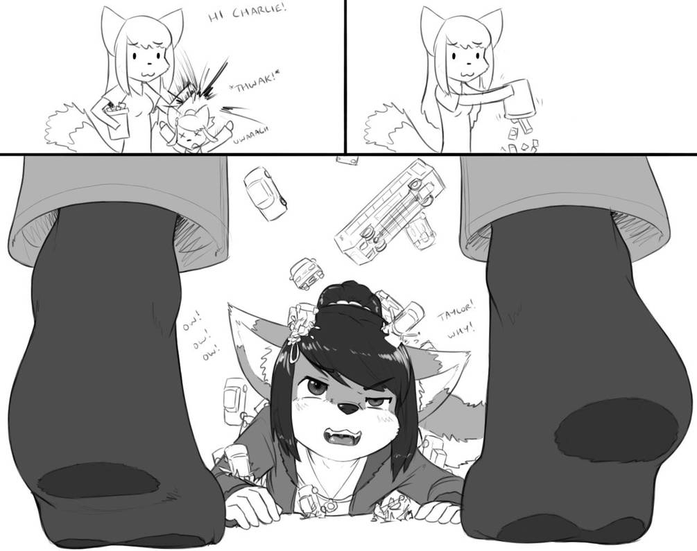 Taylor plays with Charlie by AlloyRabbit