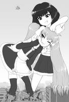 Rem and Matilda's amazing kaiju battle by AlloyRabbit