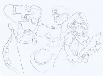 TF2 Sketches by Metacookie