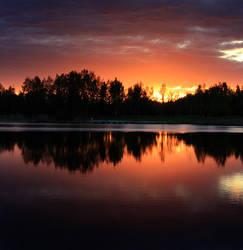 Another sunset by Sahajalal