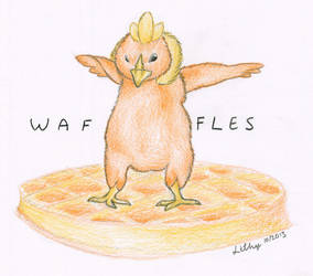 Waffles surfing on a waffle by VirtualLithy