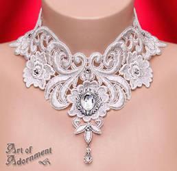 Argenta Baroque Lace Choker by ArtOfAdornment