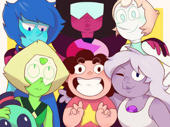 The Crystal Gems by Miishroom
