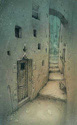 Alley in the old city by sillikone