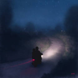 Night Ride by sillikone