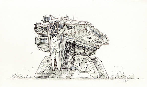 Space-freighter2-sketch by sillikone