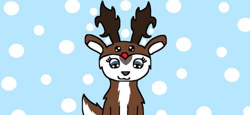 Snow Heart Reindeer Onesie (Background) by ZwolfieLeaf
