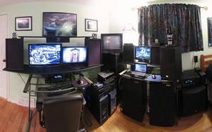 My Geeky Workspace by electricjonny