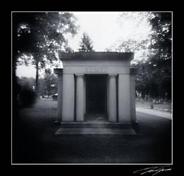 holga cemetery by electricjonny