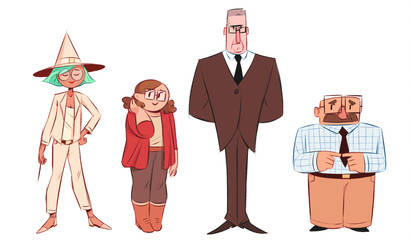 Character lineup by GusDraws