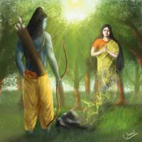 Ahalya's Redemption(Hindu Mythology) by unnibabu